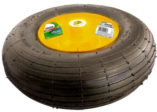 Roata cu anvelopa pneumatica, 4.00-6, D 325mm, pe rulment, int. D 16mm, lung. axa 100mm PALISAD