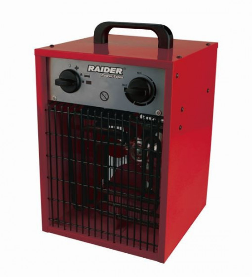 Aeroterma electrica, 5 KW, 200 M3/H, 3 trepte calorice trifazata,Raider Power Tools