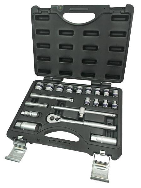 "Trusa tubulare 3/8"" x 20 piese 6 - 24 mm CRV Topmaster Profesional"