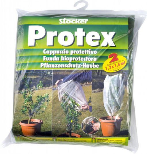Poze Husa microporoasa Protex, cu snur pentru strangere, 1.5 x 2.4 m, 30 gr/m², natur, 2 buc/set, Stoker