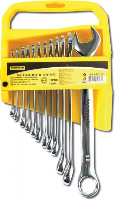Set chei combinate 6-22 mm Cr-V, 12 buc, Topmaster Profesional