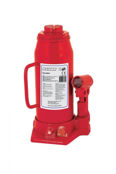 Poze Cric hidraulic tip butelie ridicare maxima 2 tone, Raider Power Tools