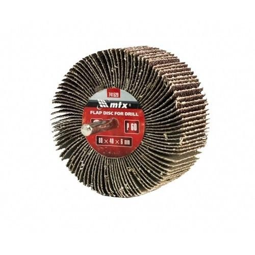Hartie abraziva lamelara pentru bormasina, P 40, 60 x 30 x 6 mm MTX Profesional