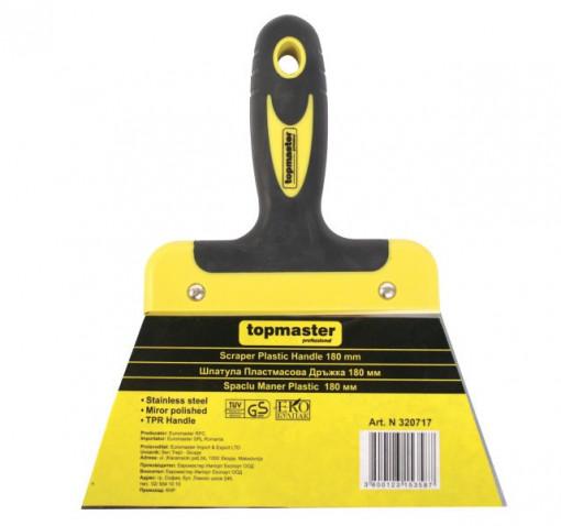 Spaclu cu maner plastic  25mm Topmaster