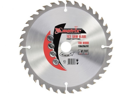 Disc taiat lemne, 160 х 20 mm, 24 dinti, bucsa 16/20 MTX Profesional