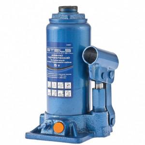 Cric hidraulic tip butelie, 5 t, H 197-382 mm, Stels