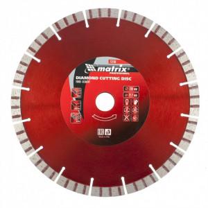 Disc diamant pentru taiere uscata, muchie TURBO-segmentat, 230 x 22.2 mm// MTX Profesional