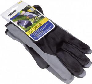 Manusi de lucru, palma din piele sintetica, masura 9/M, culoare neagra, Stoker