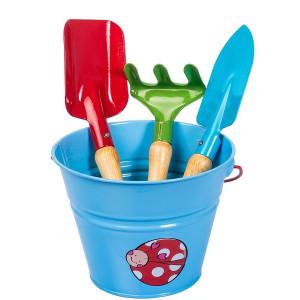 Set complet unelte de gradina pentru copii KIDS GARDEN - culoare albastra, Stoker
