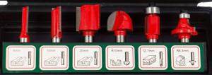 Set de 6 freze cu coada profile diferite, in cutie de plastic, Tivoly