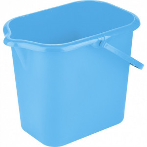 Galeata dreptunghiulara, plastic, 16 L, albastra//ТМ Elfe /RUSIA