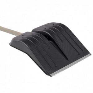 Lopata de zapada, 400 х 420 mm, de plastic, cu maner din lemn, ranforsata cu terminatie de aluminiu/
