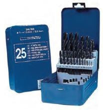 Set burghie DIN 338, laminate, HSS 1-13 mm x 0,5 mm / 25 piese, Tivoly