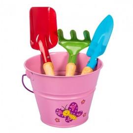 Set complet unelte de gradina pentru copii KIDS GARDEN - culoare roz, Stocker