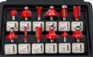 Set de 12 freze cu coada profile diferite, in cutie de plastic, Tivoly