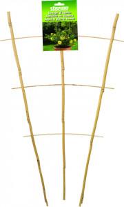 Spalier din bambus pentru plante la ghiveci, 28 x h 60 cm, Stoker