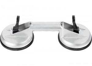 Ventuza dubla pentru geamuri, pri vacuum, din aluminiu, MTX Profesional