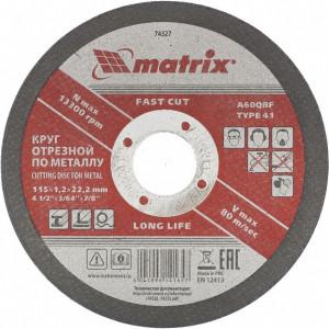 Disc de taiat metal, 115 х 1,2 х 22,2 mm, MTX Profesional
