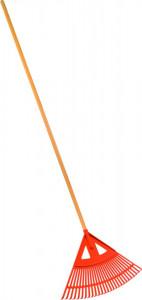 Grebla din plastic pentru gazon-frunze cu coada 182 cm, Stoker