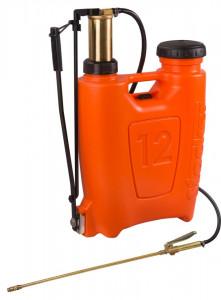 Pompa manuala de presiune, tip rucsac 12 litri, cu piston si lance din bronz, Stoker