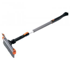 Racleta cu perie si stergator, maner telescopic, cap rotativ // Stels
