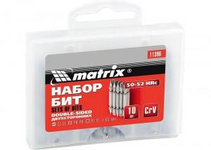 Set biti 65 mm, SL-SL, PH-PH, PZ-PZ, oțel CrV, 10 buc. MTX Profesional