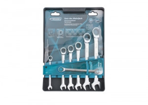 Set de chei cu clichet combinate, 8 -. 19mm, 7pcs, CrV GROSS