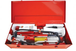 Set hidraulic pentru reparatii caroserii capacitate 10 tone, RD-PHE03, Raider Power Tools