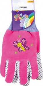 Manusi de gradina pentru copii KIDS GARDEN - culoare roz/mov, Stoker