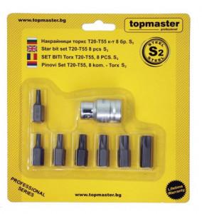 Set biti torx T20-T55 8 pcs, S2, Topmaster