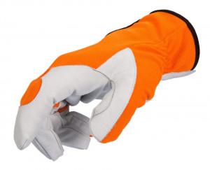Manusi de piele anti-taiere, culoare portocaliu, marime 8/S, Stoker