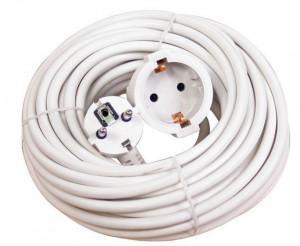 Cablu electric prelungitor 10 m (220 V), culoare alba, Makalon