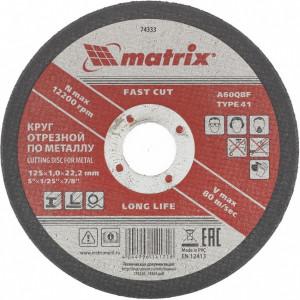 Disc de taiat metal, 125 х 1,0 х 22,2 mm, MTX Profesional