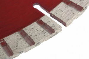 Disc diamant pentru taiere uscata, muchie TURBO-segmentat, 115 x 22.2 mm// MTX Profesional