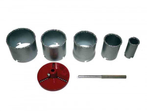 Set carote diamantate 5 buc, diametre 33-83 mm, pentru placi ceramice, Raider Power Tools