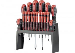 Set surubelnite FUISON, suport vertical, 18 piese CRV, MTX Profesional