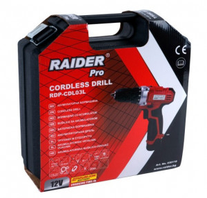 Bormaşină Cu Acumulator RDP-CDL03L, Raider Power Tools