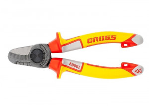 Cleste taietor cablu, cu izolatie maner pana la 1000 V, maner trei componente, 160 mm // GROSS