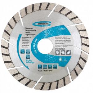 Disc diamantat 115 x 2,4 x 22,2mm, turbo-segmentat, taiere uscata // GROSS