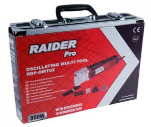 Masina multifunctionala oscilanta 360W geanta+accesorii Kit, Raider Power Tools
