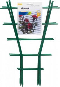 Spalier din plastic pentru plante la ghivec, 24,5 x h 38,5 cm, 3 buc/set, Stoker
