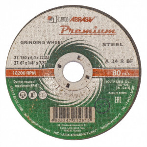 Disc pentru slefuire metal, 150 x 6,0 x 22,23 mm PREMIUM (LUGA)// Rusia