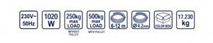Macara electrica 500kg 1020W RD-EH02, Raider (Standard)
