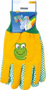 Manusi de gradina pentru copii KIDS GARDEN - culoare galben/verde,Stoker