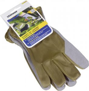 Manusi de lucru, palma din piele sintetica, masura 9/M, culoare verde oliv, Stoker