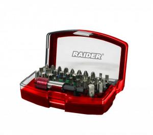 Set 32 biti si suport magnetic 1/4'' Raider Power Tools