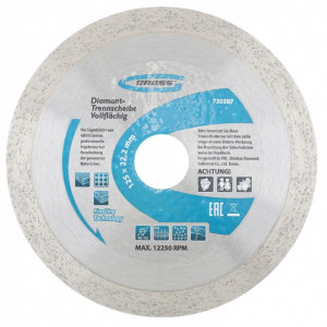 Disc diamantat pentru taiere umeda, muchie continua, 180 х 22,2 mm // GROSS