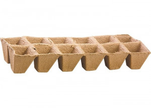 Ghivece din turba, patrate (bloc de 12 celule)