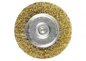 Perie pentru bormasina, 30 mm, coada plata, sarma ondulata din otel// MTX Profesional