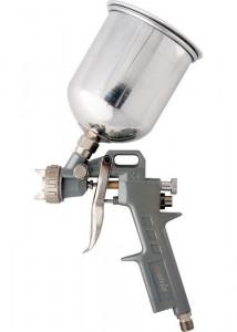 Pistol pneumatic ptr. vopsit, rezervor-part. de sus, V=1,0 L, diametru duze 1.2, 1.5 si 1.8 mm// MTX Profesional
